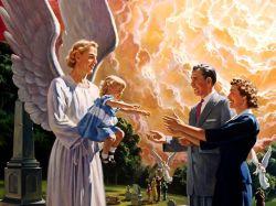 В воскресение праведных семьи соединяются, матери обнимают детей, которых смерть когда-то вырвала из их объятий